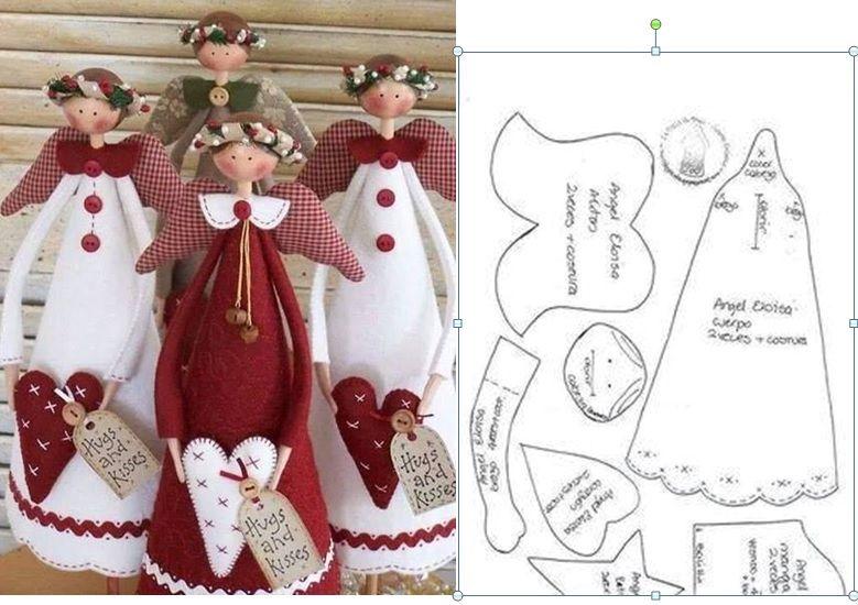 Patroon enge len | muñecas de trapo | Pinterest | Navidad, Muñecas y ...