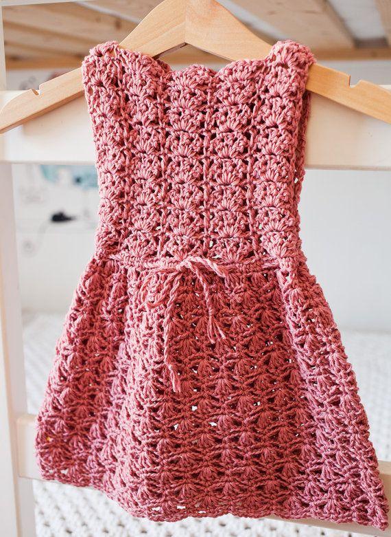 Crochet PATTERN - Scalloped Neckline Lace Dress (baby, toddler ...