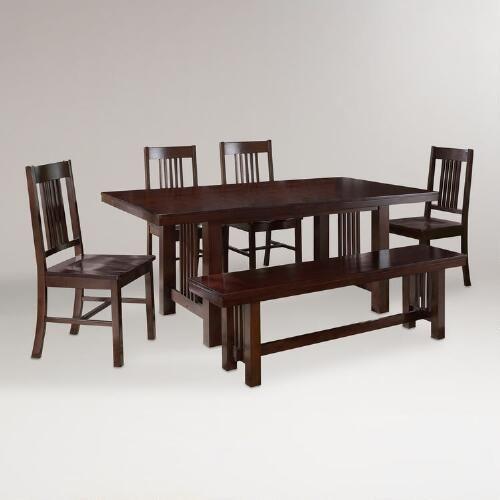 Clayton 6 Piece Dining Set World Market Dining Room Furniture Sets Contemporary Dining Room Sets Dining Set