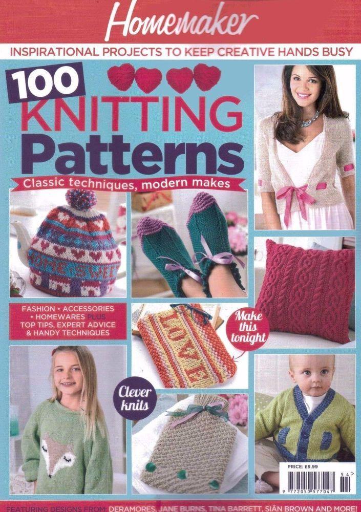 Homemaker 100 Knitting Patterns Magazine Issue 54 2017 Sew U