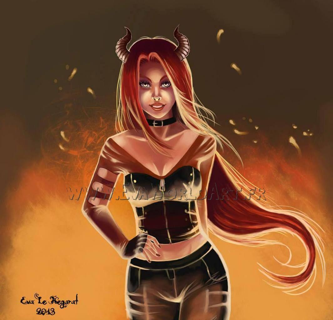 Diablesse halloween art dessin draw halloween wonder woman superhero deviantart - Dessin diablesse ...