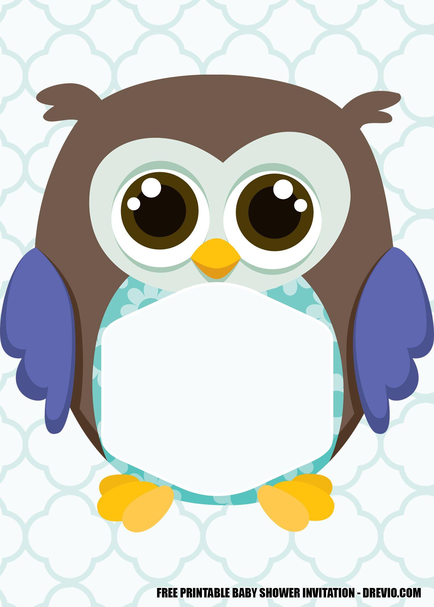 FREE Printable Owl Baby Shower Invitation Templates   Owl ...