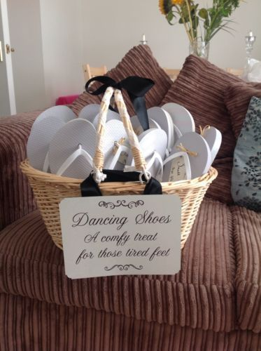 Flip-Flop-Basket-With-Dancing-Shoes-Sign-Wedding | Wedding ...