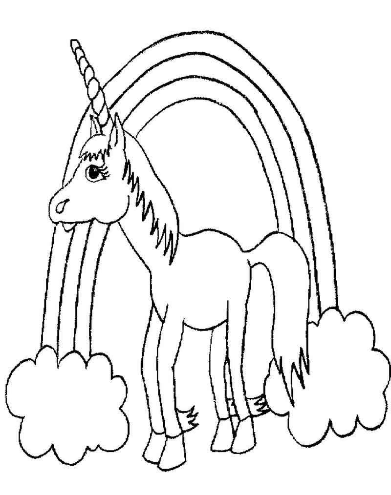 Coloring Pages Of Unicorns (Dengan gambar)