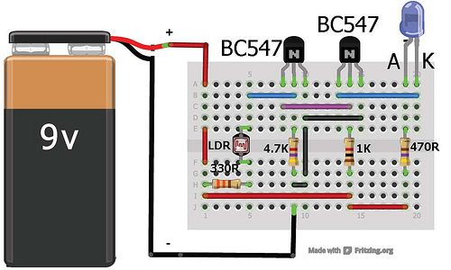 Dark sensor using transistor, photodiode and phototransistor ...