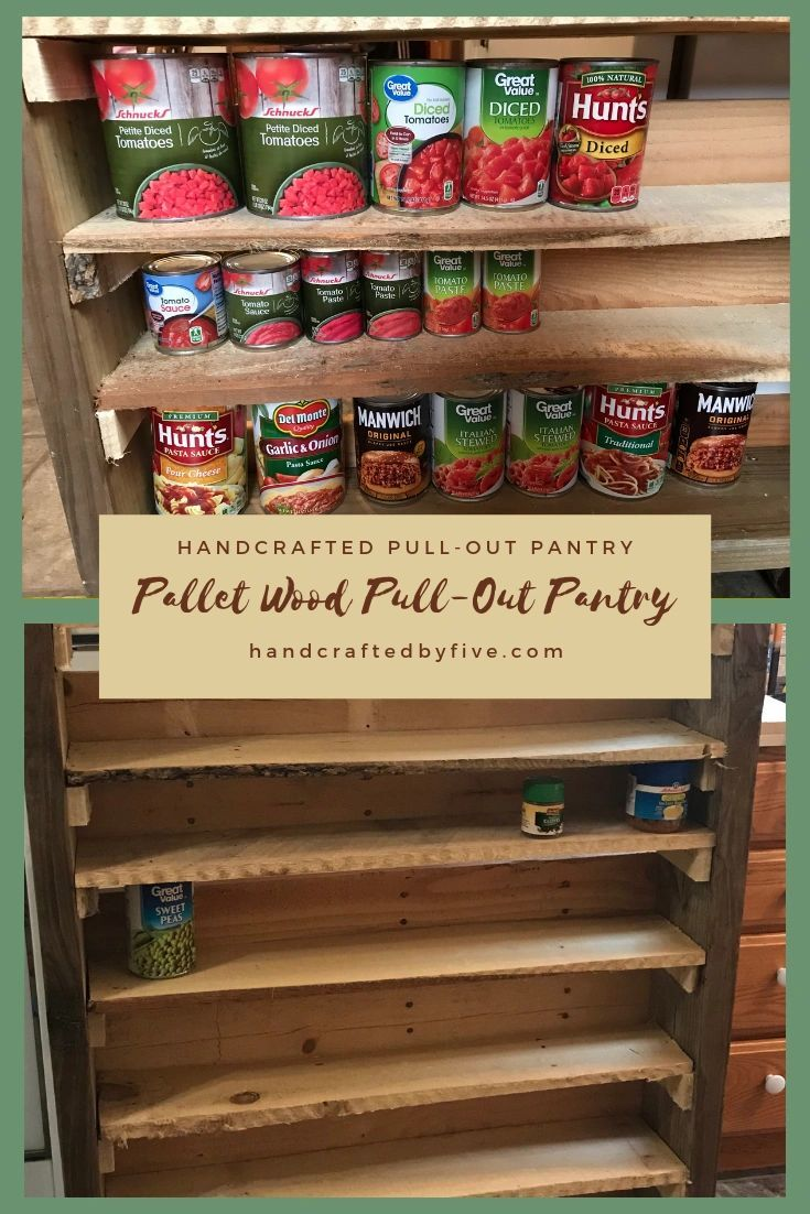 Handcrafted diy pallet wood pullout pantry in 2020 wood