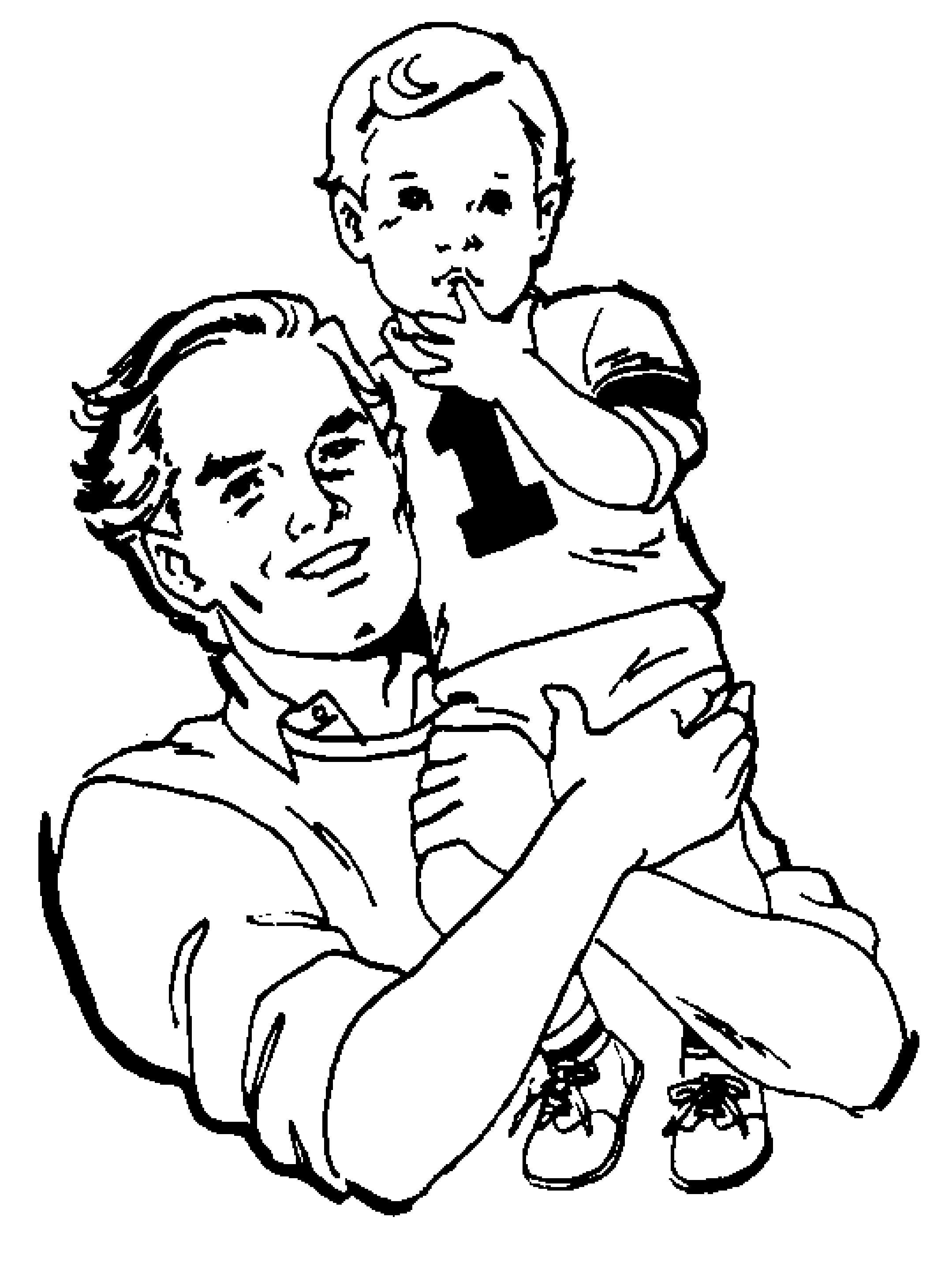 Een Leuke Kleurplaat Voor Vaderdag Kijk Op De Surfsleutel Voor De Printversie Kleurplaten Vaderdag Voor Kinderen