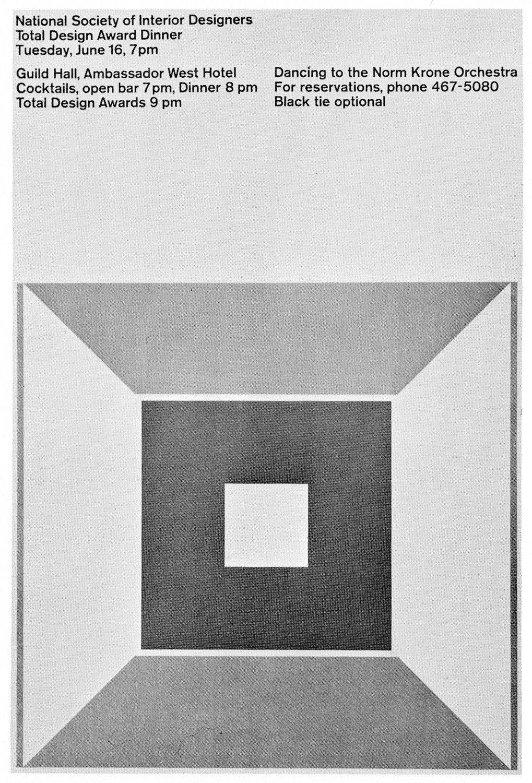 John Massey National Society Of Interior Designers 1964