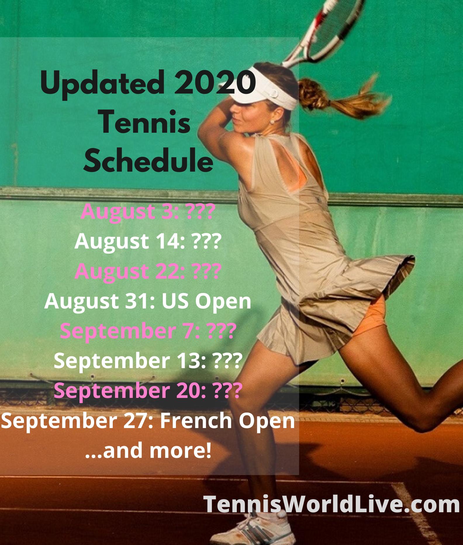 Updated Atp Wta Schedule For 2020 In 2020 Tennis Schedule Tennis Tennis Tournaments