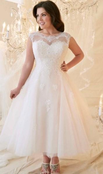 100+ Best Tea Length Wedding Dresses for Older Brides (2nd