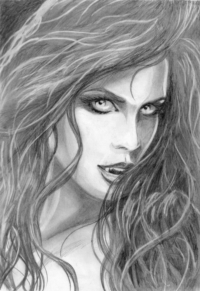 vampiress pencil sketches - Google Search (With images ...