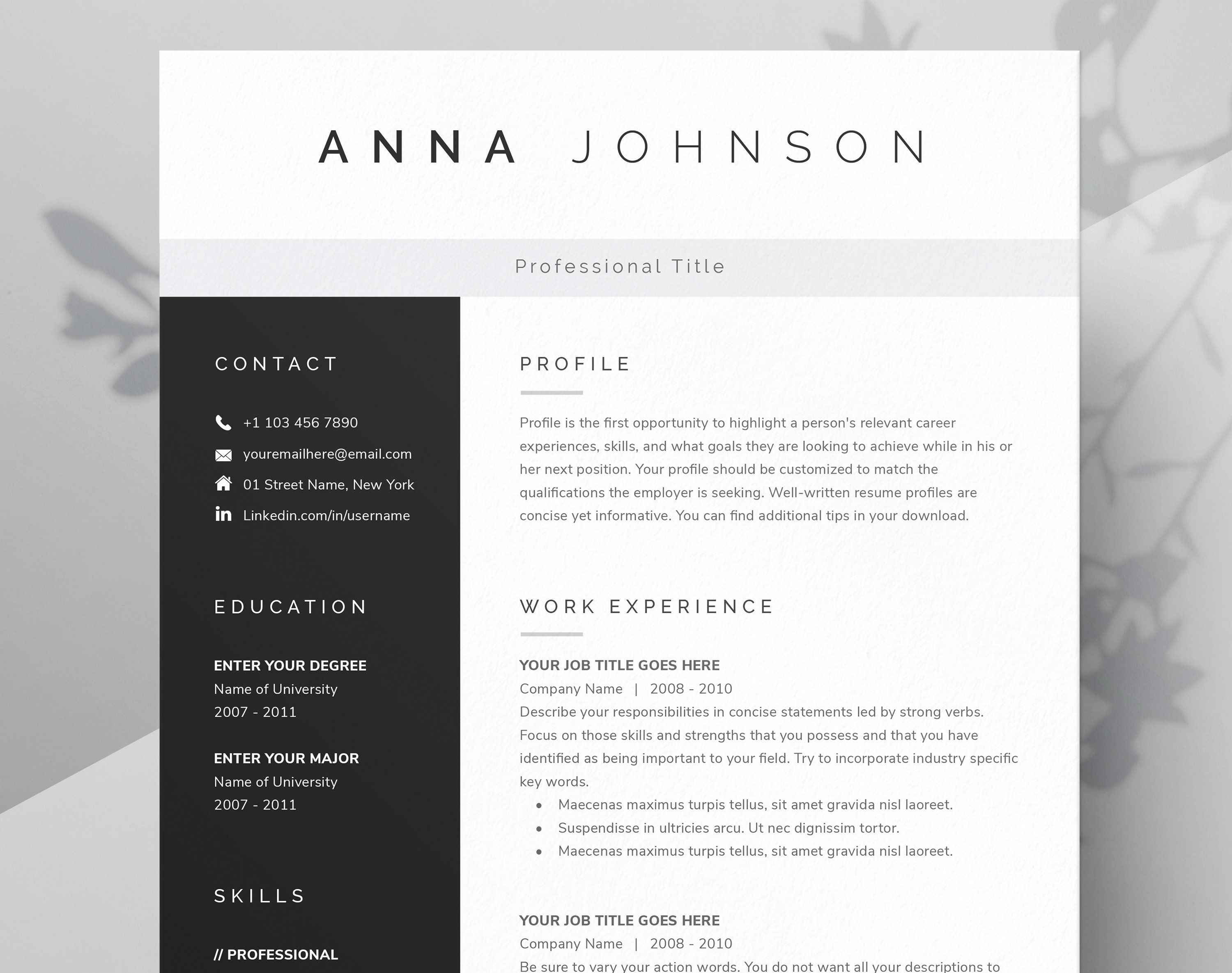Resume Template For Microsoft Word Pages Cover Letter References Template Resume 2020 Modern Resume Template Instant Download In 2020 Modern Resume Template Resume Template Resume Template Word