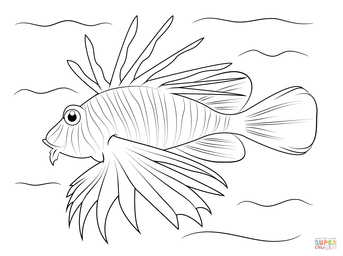Lionfish Coloring Page From Fish Category Select From