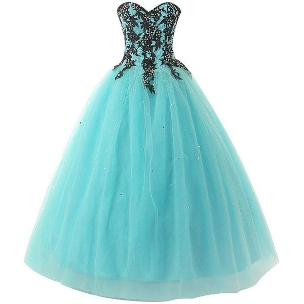 jjshouses Women's Long Prom Dresses 2015 Applique Ball Gown Evening... (€94) ❤ liked on Polyvore featuring dresses, gowns, long dresses, vestidos, evening dresses, long evening dresses, evening gowns, blue gown and blue evening gown
