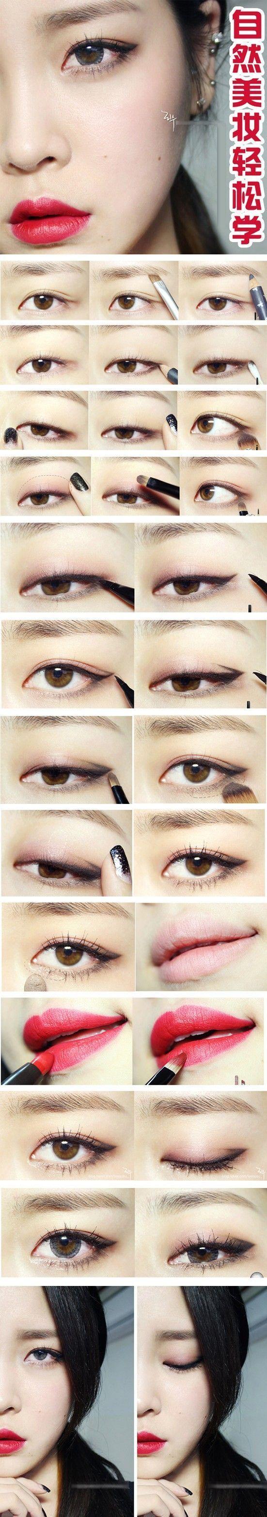 Makeup tutorial kawaii makeup pinterest tutorials makeup asian makeup tutorials baditri Image collections