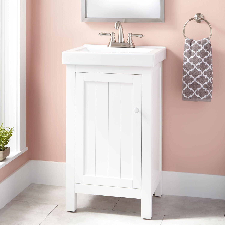 "20"" Harris Vanity - White | 20 inch bathroom vanity, Small ..."