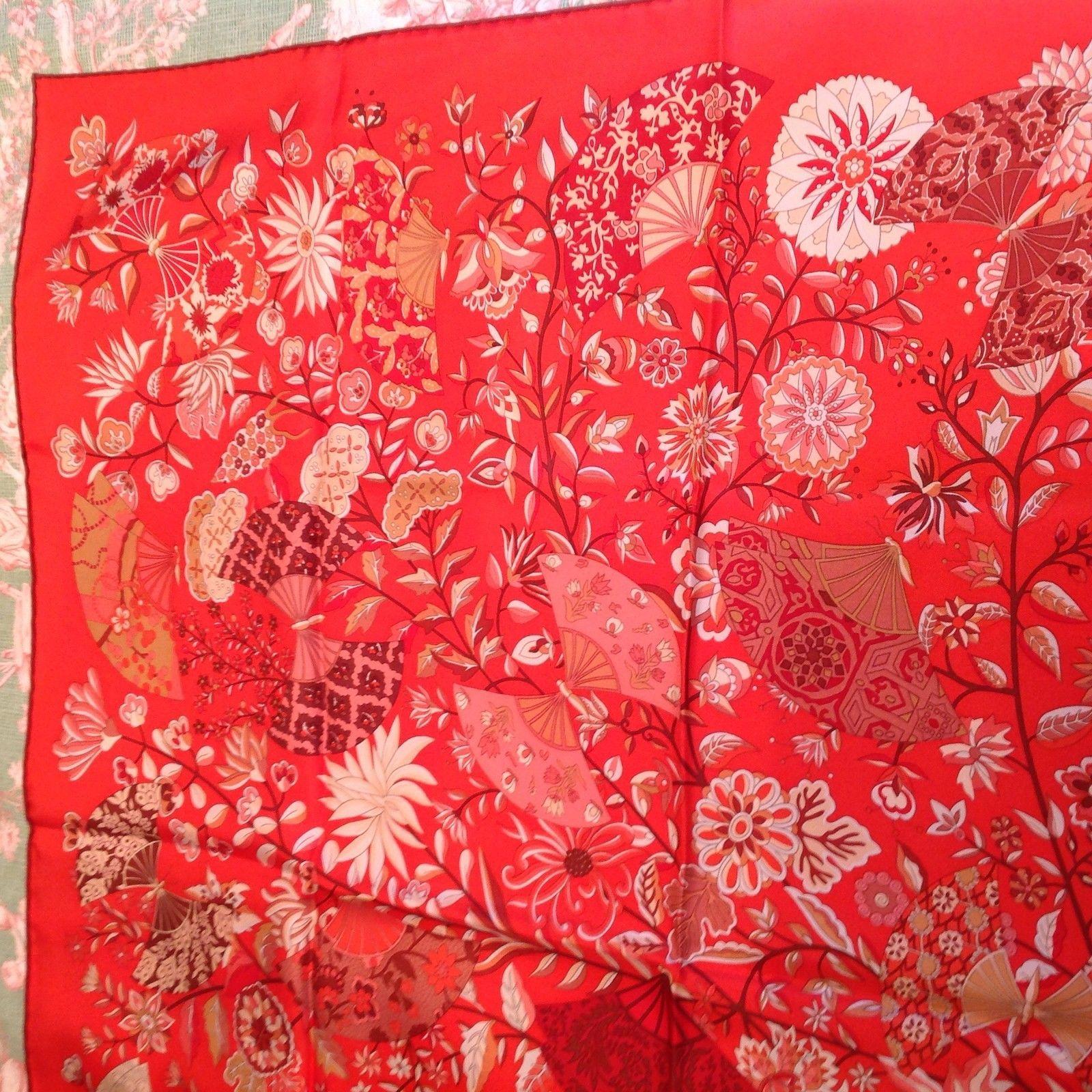 Hermes Fleurs Et Papillons de Tissus Scarf Tags Removed But Inc with Receipt | eBay