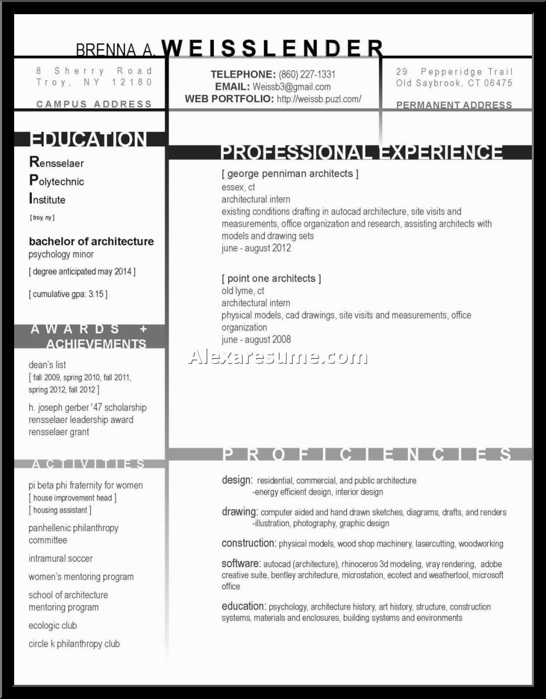 Landscape Architect Resume Templates  Bathroom Design