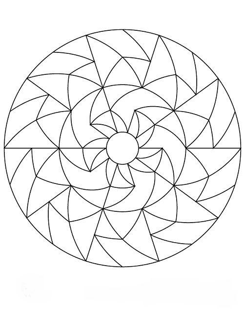 mandala coloring pages simple | mandala | Pinterest | Mandalas ...