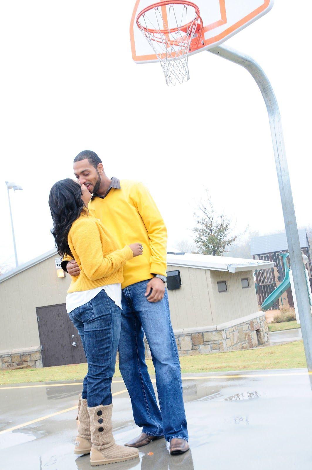 Basketball court engagement photo | Engagement photos | Pinterest ...