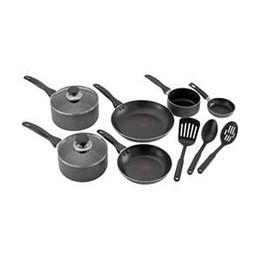 Tefal 9pc Expert Non Stick Enamel Cookset Pan Set Saucepan Pot