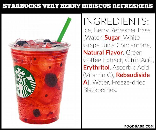 Starbucks Very Berry Hibiscus Refreshers Ingredients Starbucks