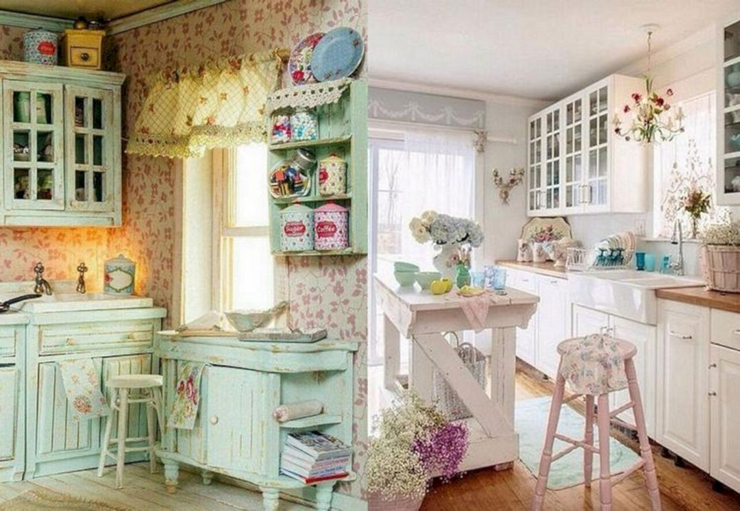 Outstanding 15 Incredible Shabby Chic Kitchen Ideas For Enjoyable