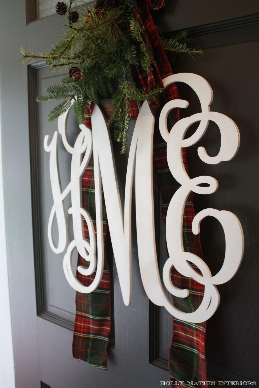 monogram door