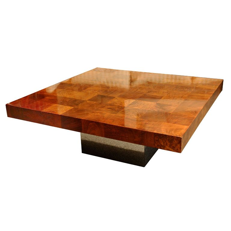 Milo Baughman Coffee Table USA 1970u0027s Mahogany Top And Chrome Base Coffee  Table Designed By Milo Baughman For Thayer Coggin. The Table Was Retailed  By The ...