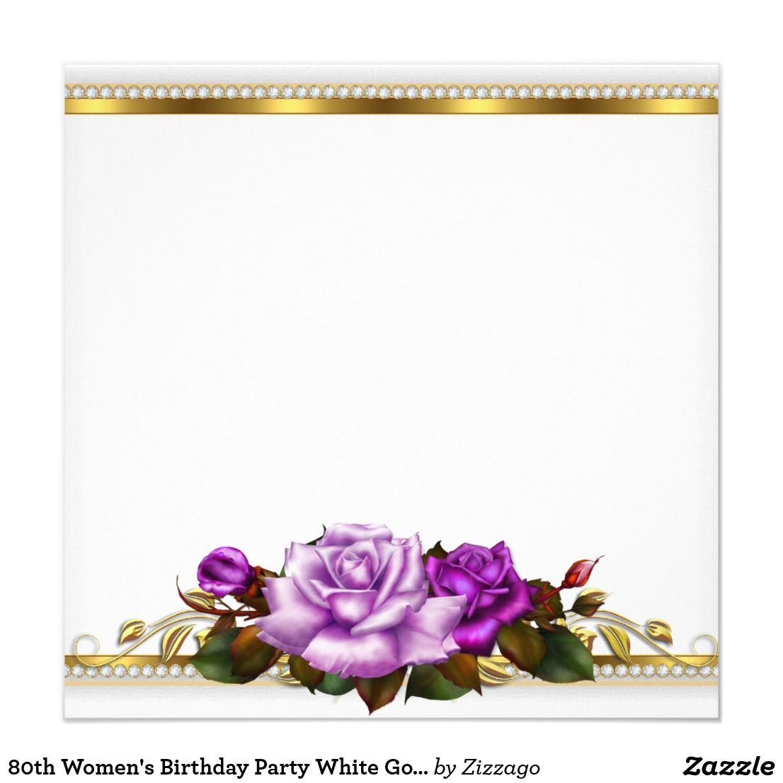 invitation zazzle com flower frame