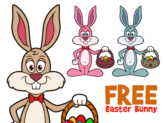 Free Vector Easter Bunny | Pixaroma | We extract aroma from pixels.