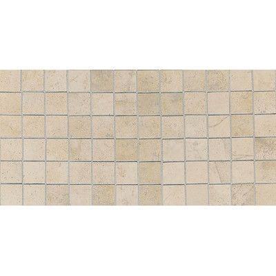 American Olean Costa Rei X Ceramic Mosaic Tile In Sabbia - American olean 2x2 mosaic tile