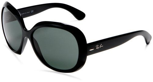 Ray-Ban Women s RB4098 Non-Polarized Jackie OHH II Sunglasses,Black Frame  c95b4727d4