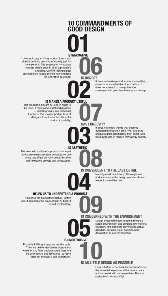 The Ten Commandments Of Design Graphic Design Tips Timeline Design Typography Design