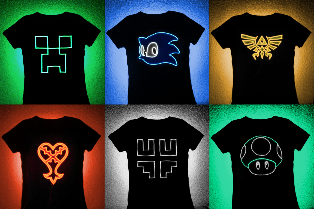 For Sale: Gamer EL Wire Panels for T-shirts by lux-operon on ...