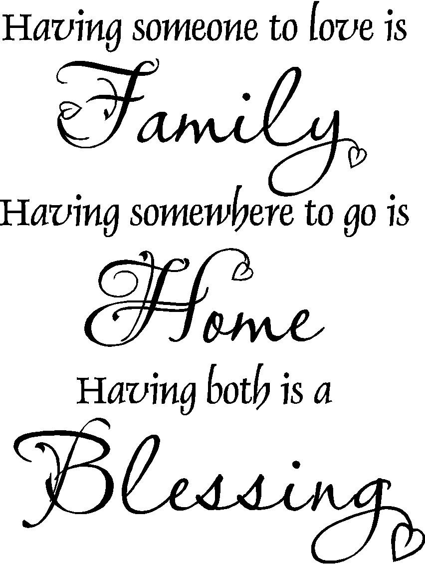Family Home Blessing Vinyl Wall Decal FAM12 Family