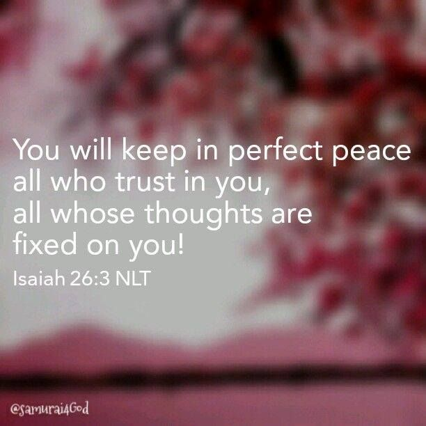 Image result for isaiah 26:3 nlt