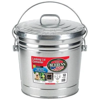 10 Gallon Galvanized Steel Trash Can True Value In 2020 Kitchen Trash Cans Pet Food Storage Dog Food Storage