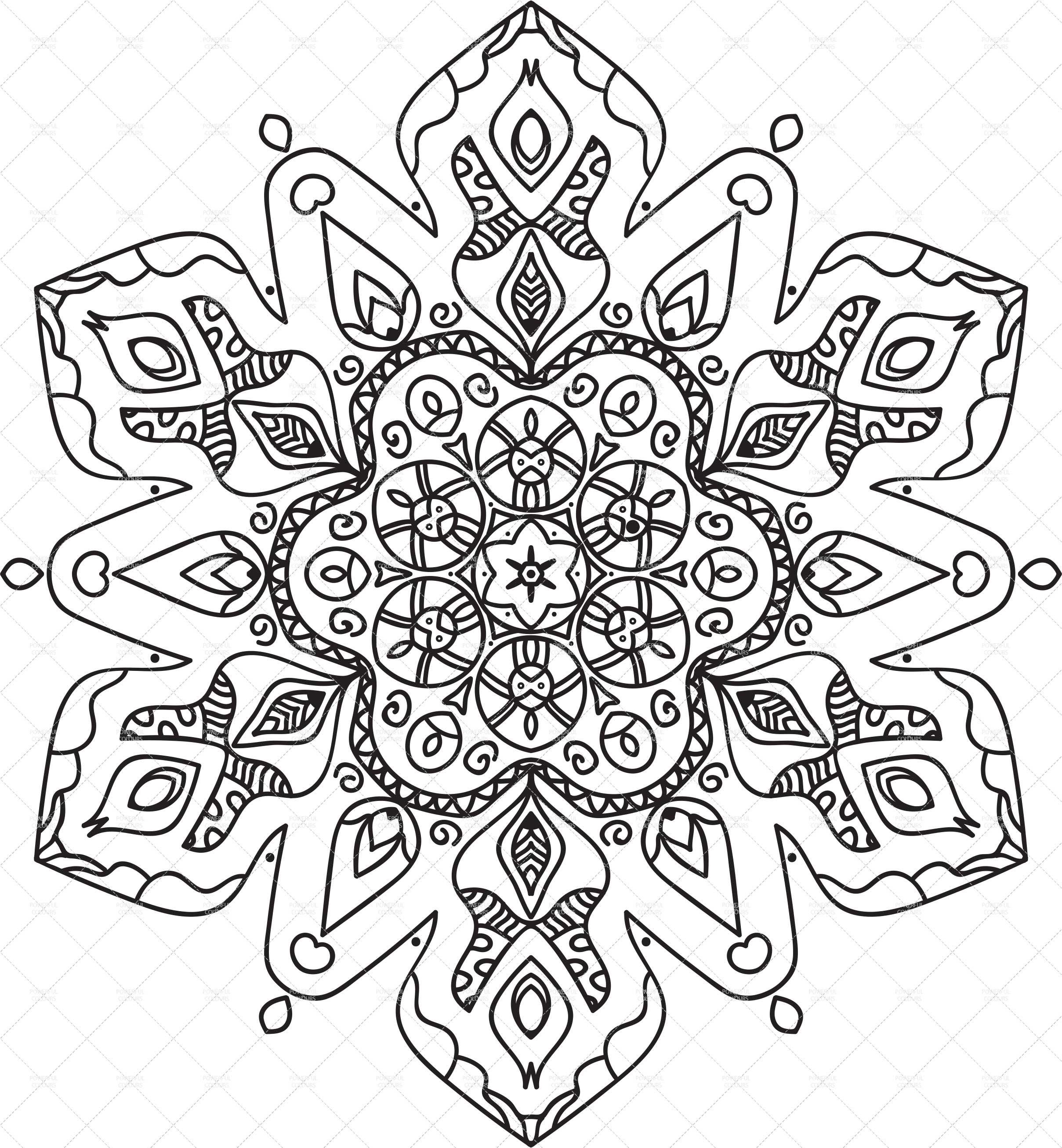 Printable Mandala 9 Adult Coloring