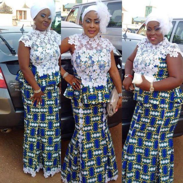 Ankara And Lace Combinations Skirt Blouse Styles Combination Fashion African Fashion Blouse Styles