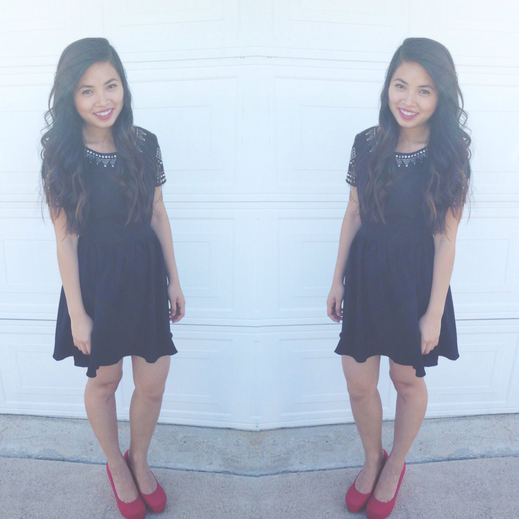 Little Black Dress Outfit Ootd Red Wedges Little Black Dress Outfits Fashion [ 1800 x 1800 Pixel ]