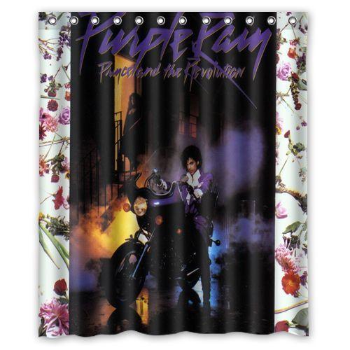 fabric shower curtains purple rain