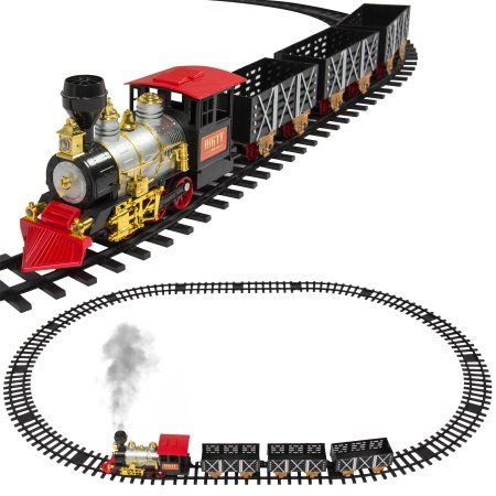 Best Choice Products Kids Classic Battery Operated Electric Railway Train Car Track Set For Play Toy Decor W Real Smoke Music Lights Multicolor Walmart Model Trains Toy Trains Set Toy Train