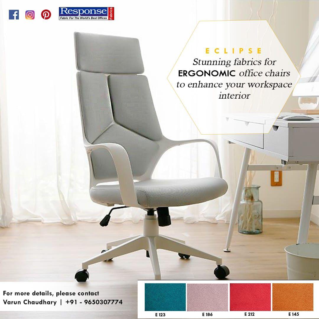 Stunning fabrics for ergonomic OFFICE CHAIRS to enhance