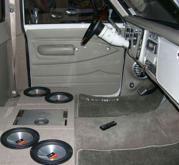 Nice Speaker Install But A Bit Uncomfortable To Drive Now 72 Chevy Truck Chevy Trucks Truck Interior