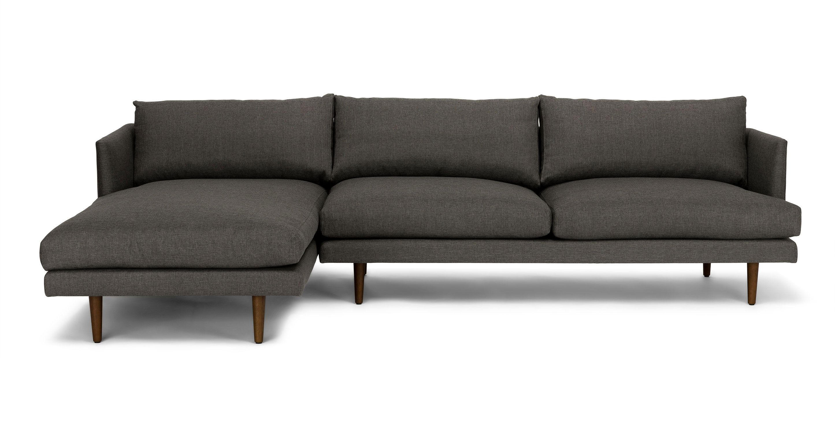 Burrard graphite gray left sectional sofa sectionals article modern mid century and scandinavian furniture