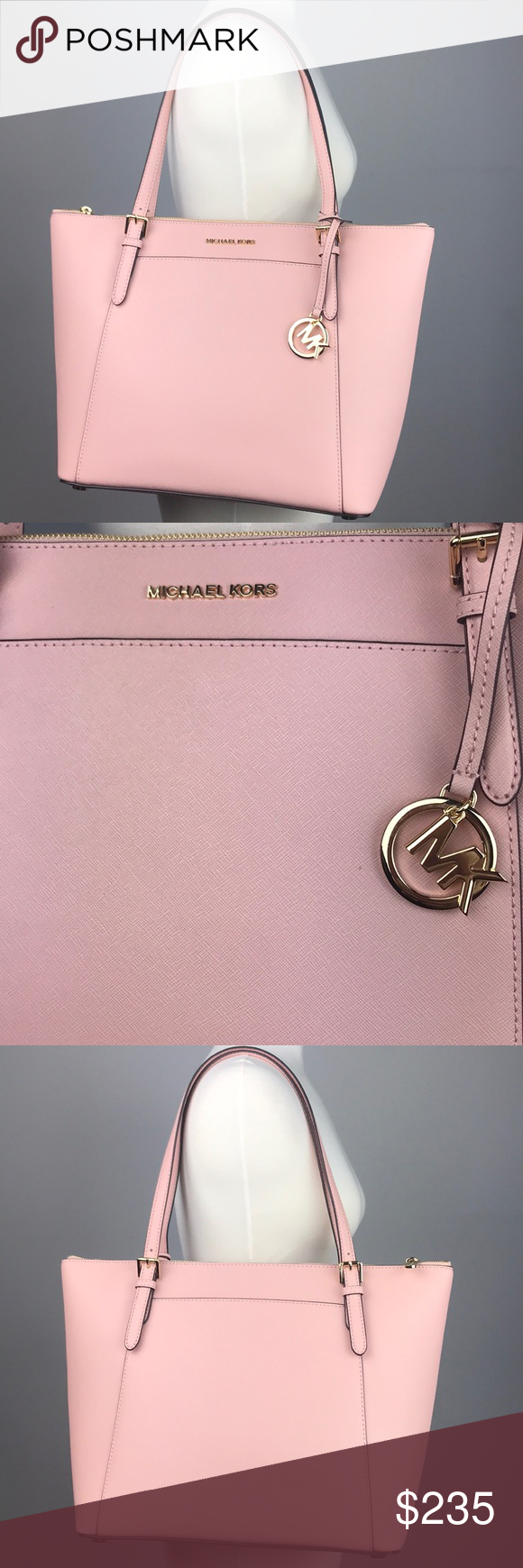 f0ae258675d1 Michael Kors Ciara bag   Jet Set Travel Wallet Set Stunning muted pink  colored tote or shoulder bag and matching wallet. PURSE  Interior zipper  Multiple ...