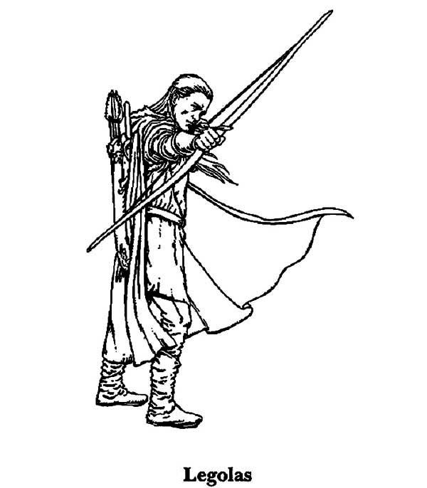 Legolas Line Art Coloring Pages Lord Of The Rings Color