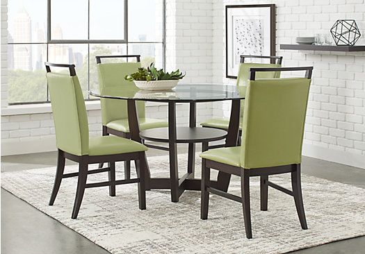 Picture Of Ciara Espresso 5 Pc Dining Set From Dining Room Sets