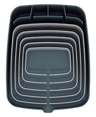 joseph joseph jj85002 arena abtropfgestell mit integriertem ablauf wei grau k chen. Black Bedroom Furniture Sets. Home Design Ideas